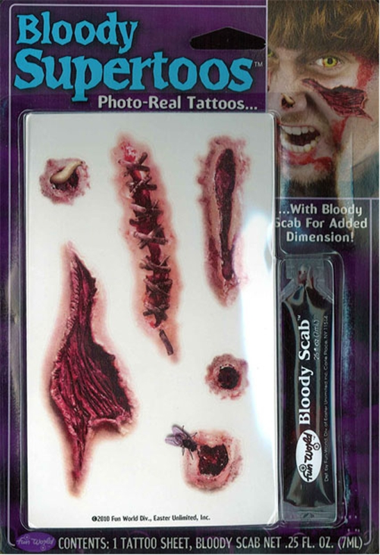 Zombie Bloody Tattoos