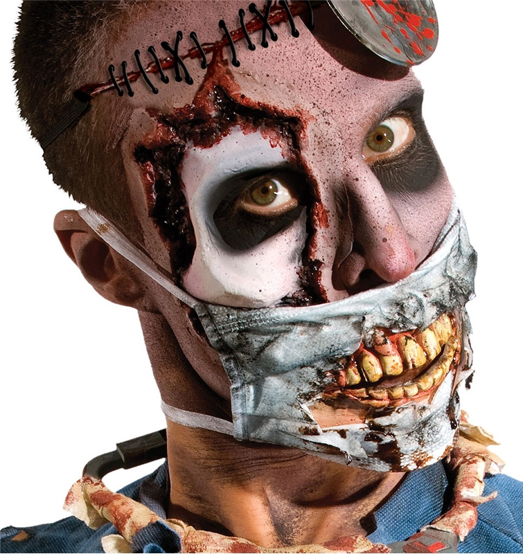 Zombie Doctor Mask With Teeth