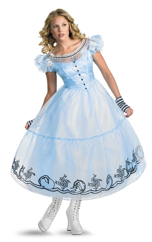 [Deluxe Alice Movie Dress Adult Costume] (Dress Deluxe Costumes)