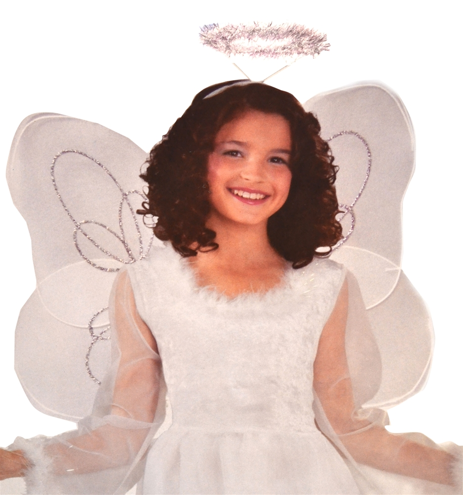 Marabou Angel Child Wings and Halo Set