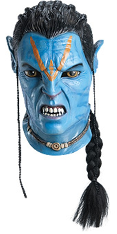 Avatar Jake Sully Overhead Latex Deluxe Adult Mask by Rubies