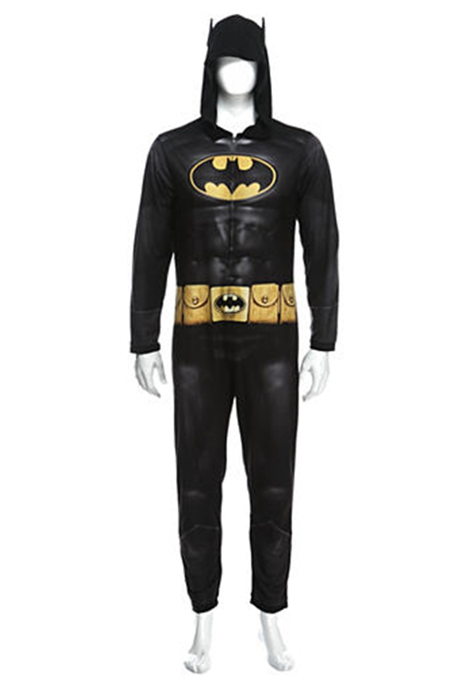 Batman the Dark Knight Adult Mens Onesie with Hood