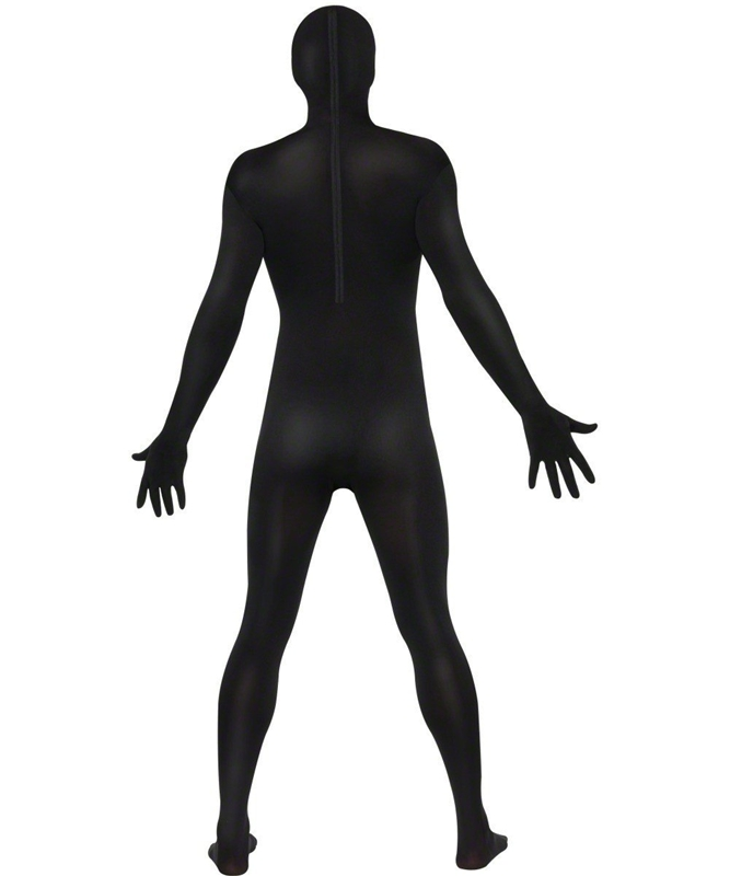 Black 2nd Skin Suit Adult Mens Costume