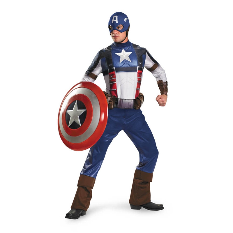 Marvel Captain America Movie Deluxe Plus Size Adult Mens Costume