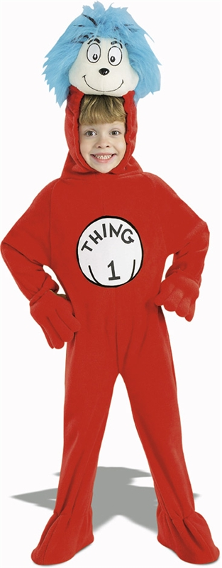 Cat in the Hat Thing 1 Child Deluxe Costume