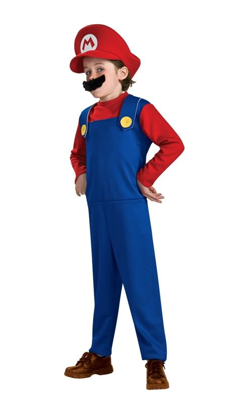 [Mario Brothers Mario Toddler & Child Costume] (Mario Costumes Child)
