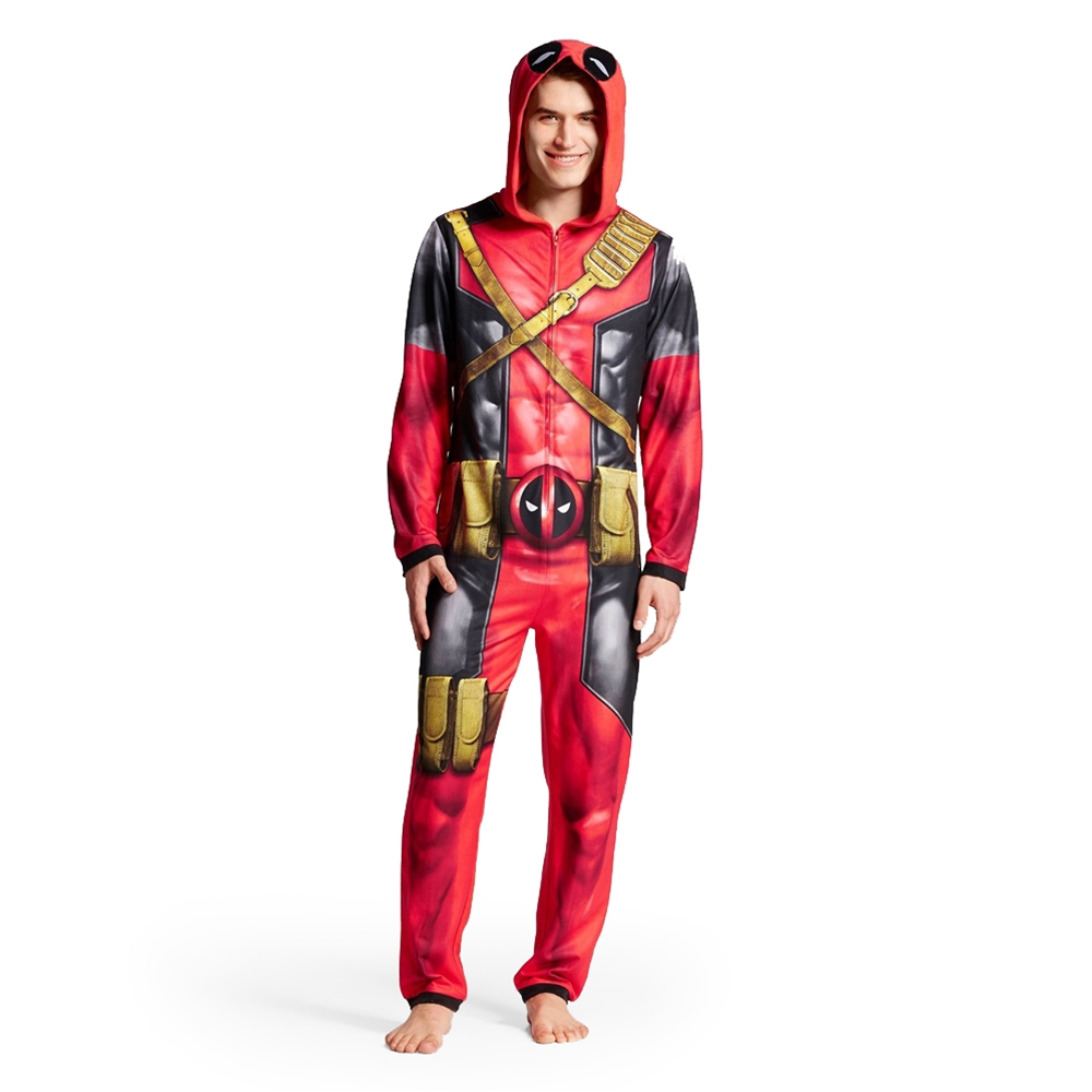 Deadpool Adult Mens Onesie with Hood