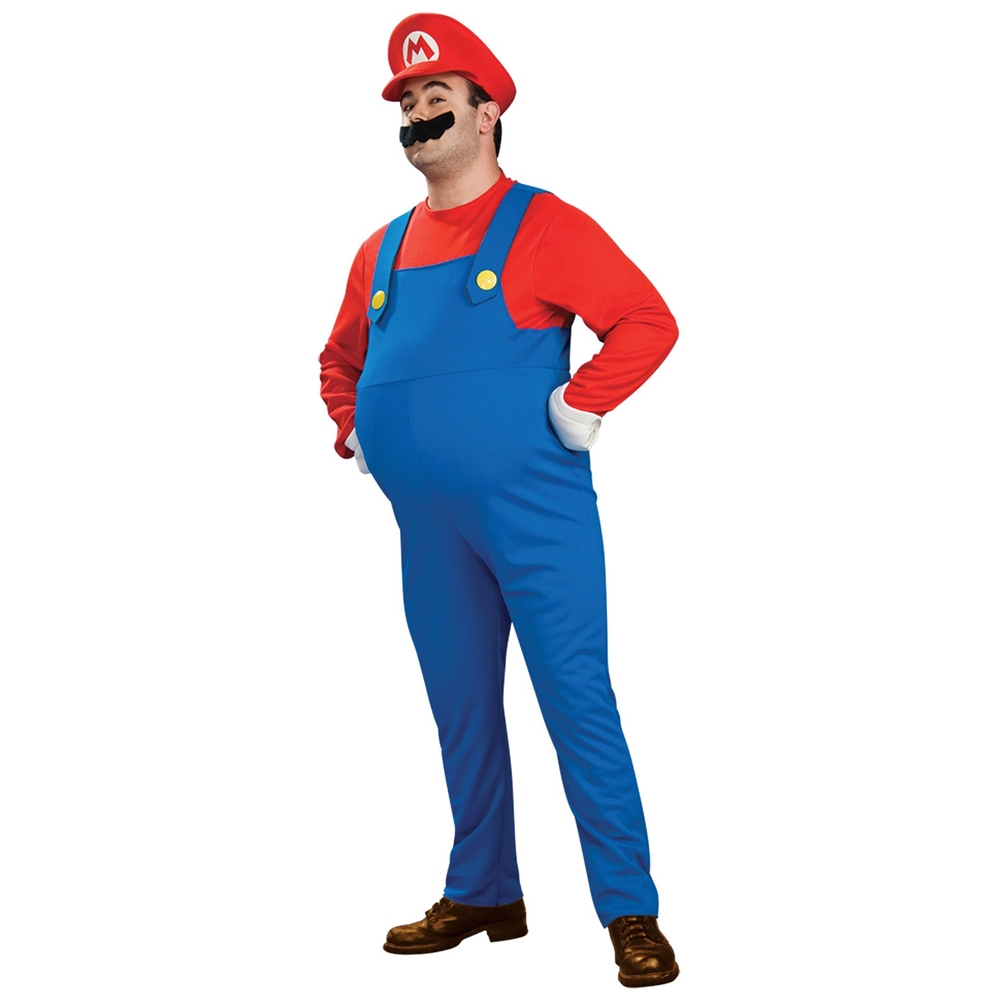 Deluxe Mario Brothers Mario Adult Mens Costume by Rubies