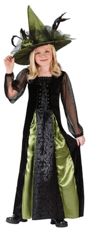 Deluxe Goth Maiden Witch Child Costume