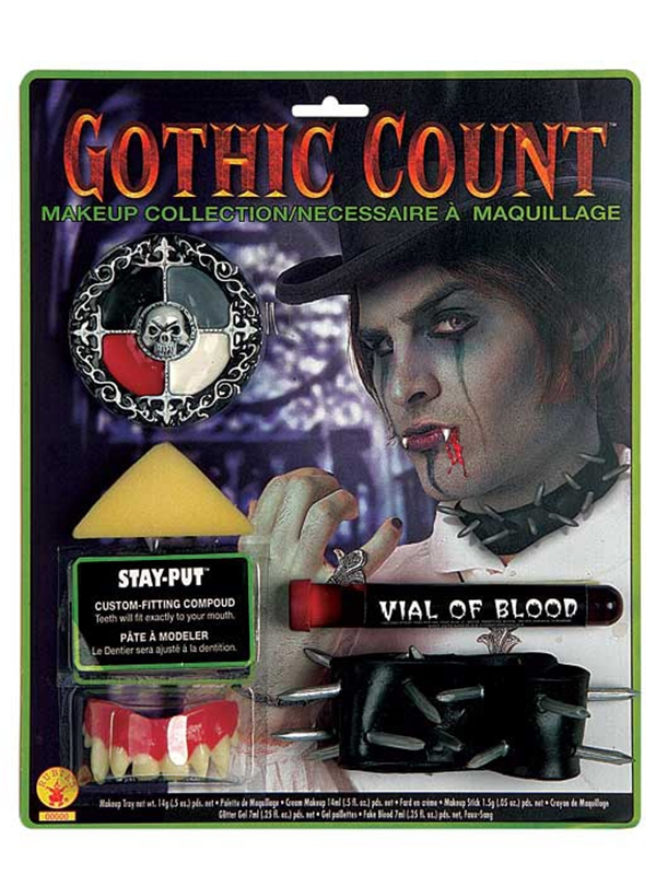 Deluxe Gothic Count Makeup set