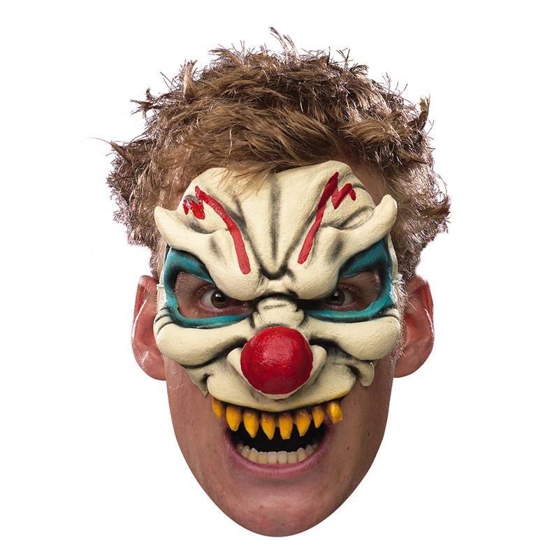 Image of Chinless Evil Clown Adult Mask