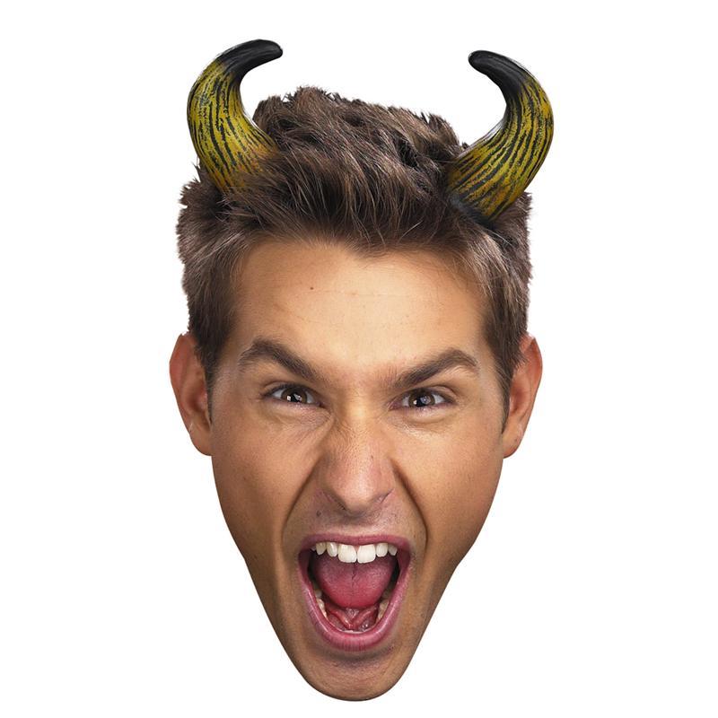 Nogginz Short Bent Tan Horns