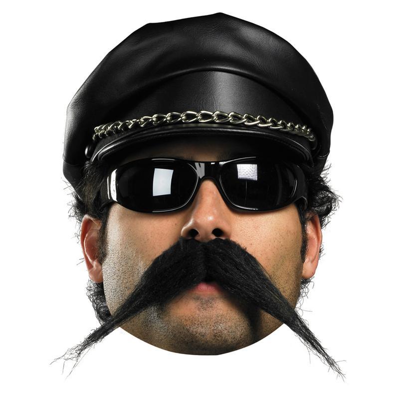 Facial Hair Biker Moustache by Disguise