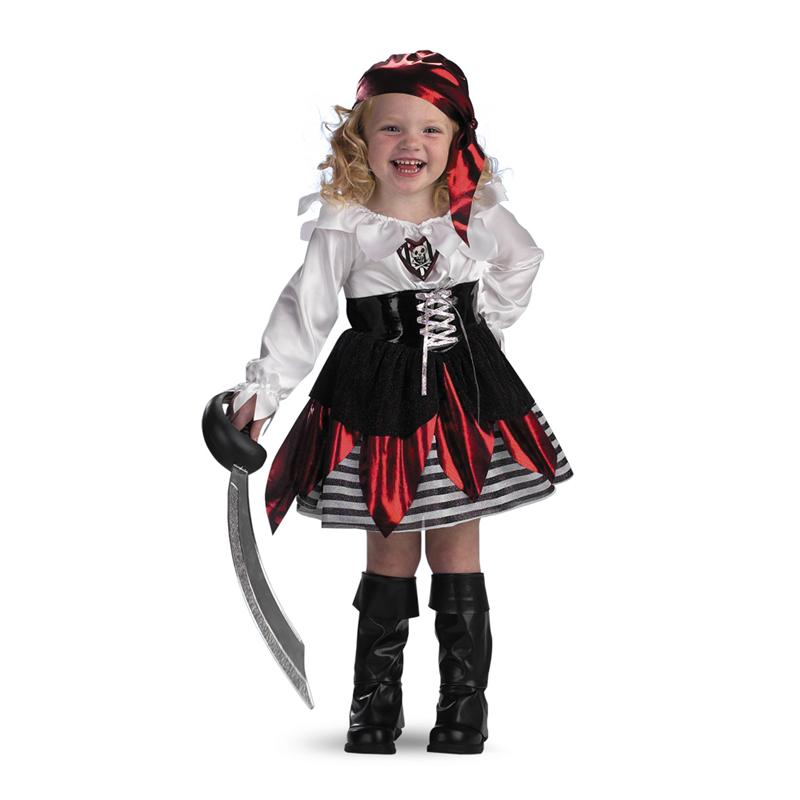 Petite Pirate Deluxe Toddler Costume by Disguise