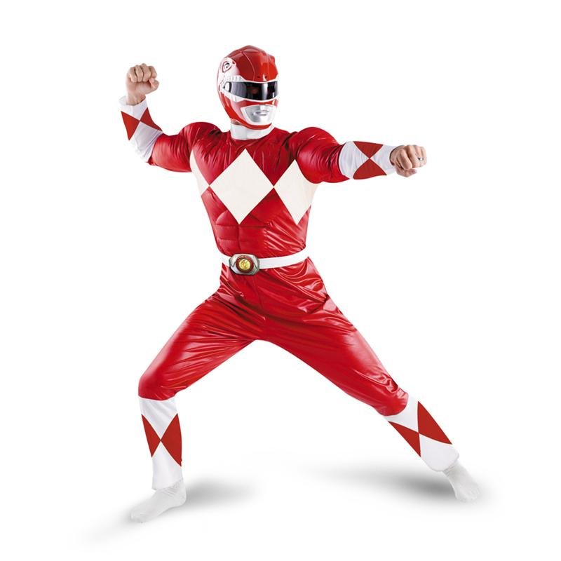 Power Rangers Red Ranger Classic Muscle Adult Mens Costume