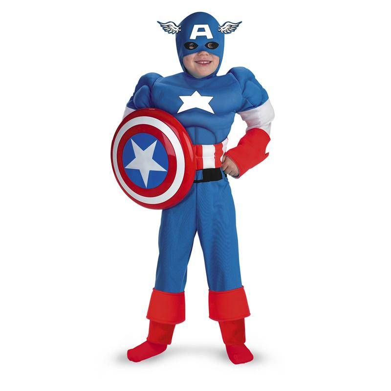 Marvel Captain America Classic Muscle Child Costume