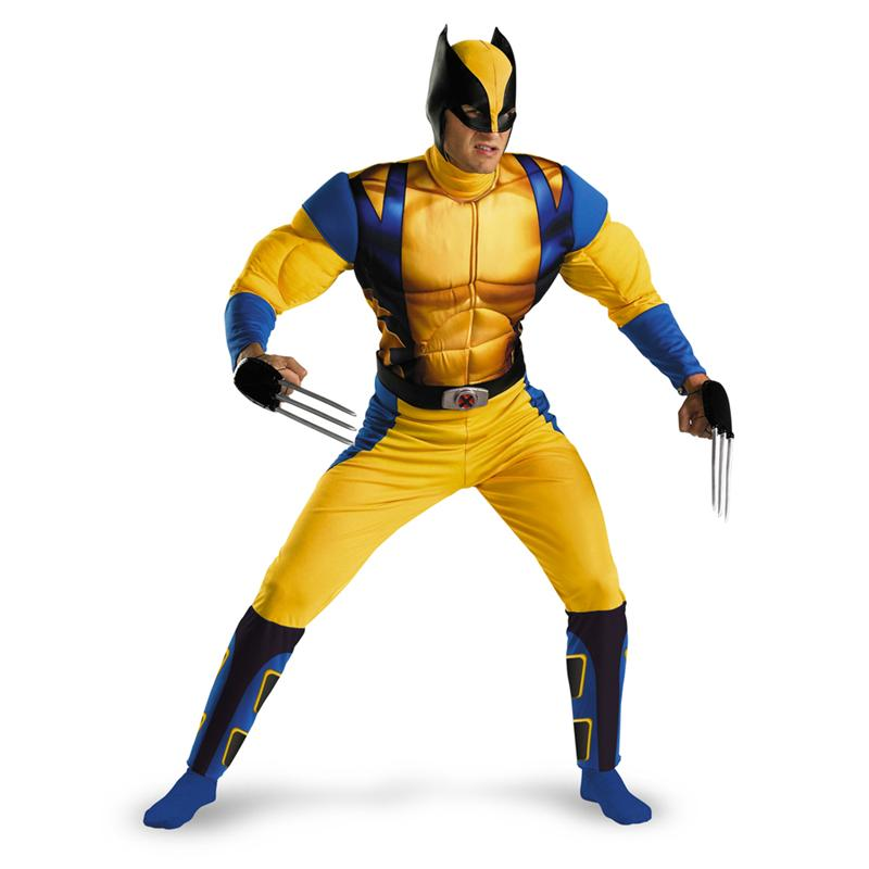 X-Men Origins: Wolverine Origins Classic Muscle Adult Mens Costume (Wolverine Muscle Costume)
