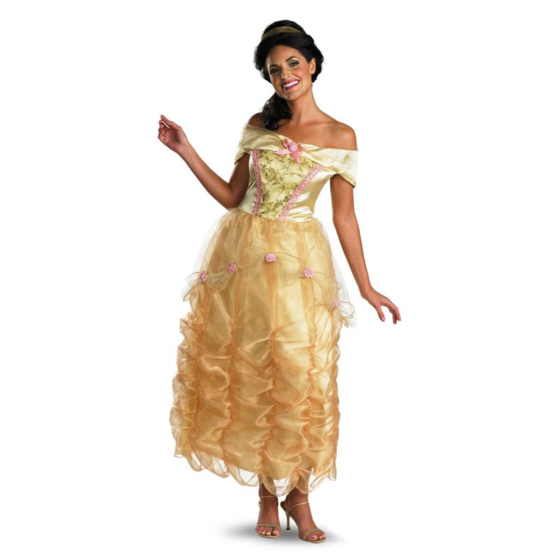Beauty and the Beast Deluxe Belle Adult Womens Costume ()