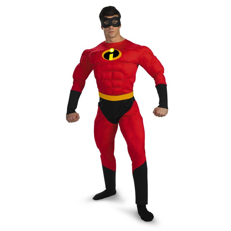 Mr. Incredible Deluxe Muscle Adult Mens Costume (Mr Incredible Adult Costume)