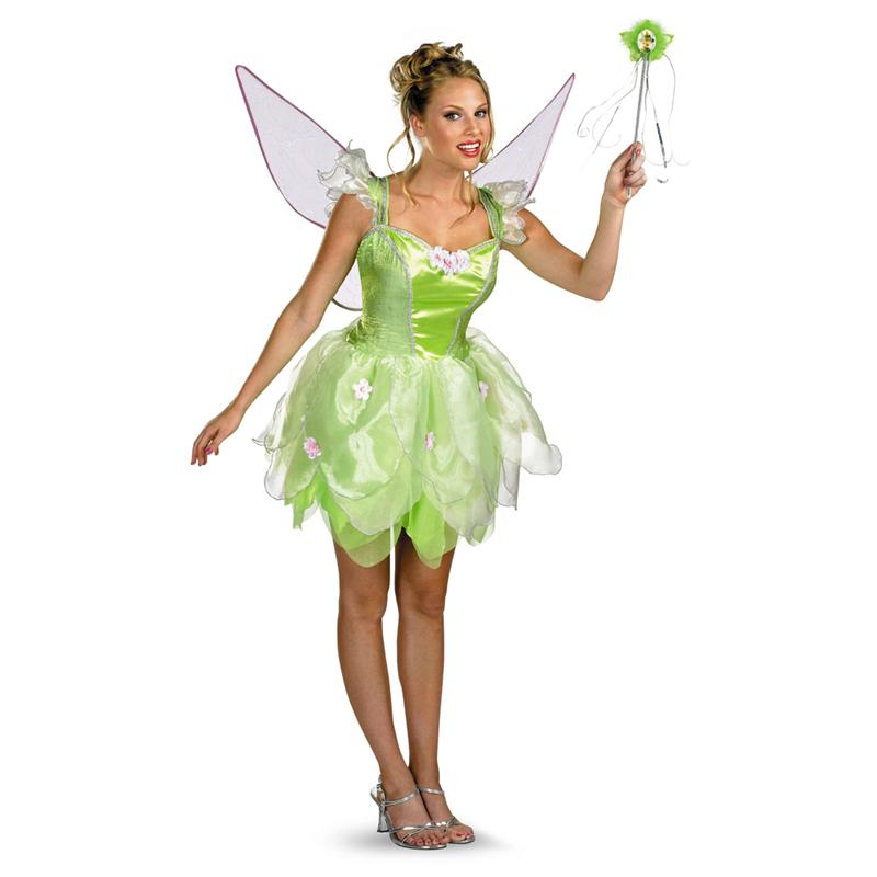 [Disney Fairies Tinker Bell Prestige Adult Costume] (Adult Tinkerbell Fairy Costumes)