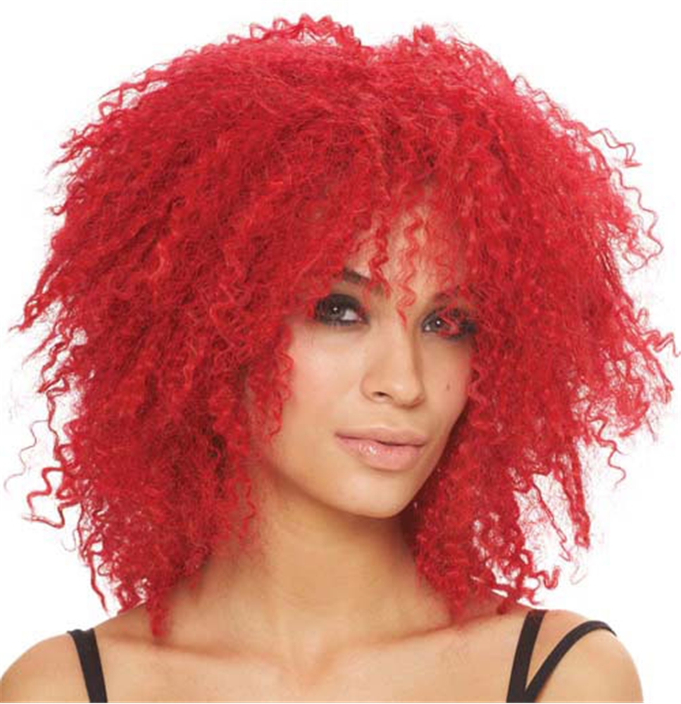 Kinky Red Curls Wig