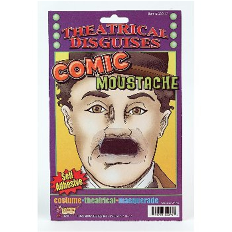 Comic Moustache Black