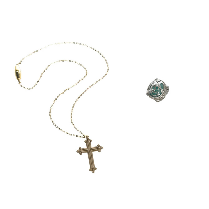 Angelica Cross Necklace and Ring Set