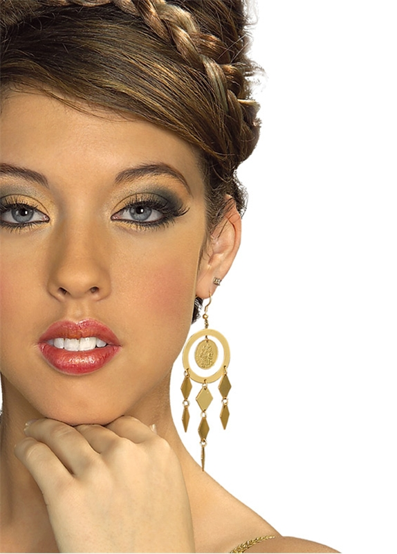 Gold Coin Goddess Earrings