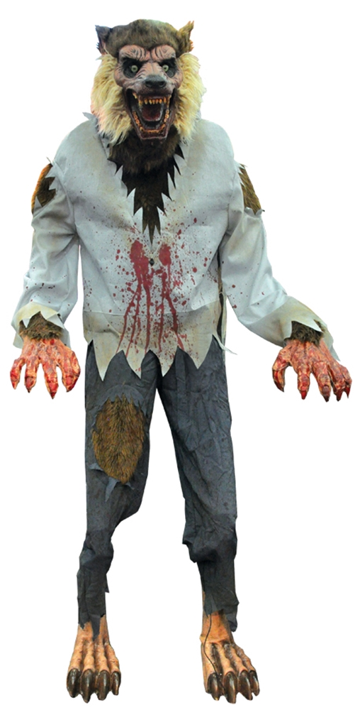 Image of Life-Sized Lurching Cursed Werewolf Animated Prop