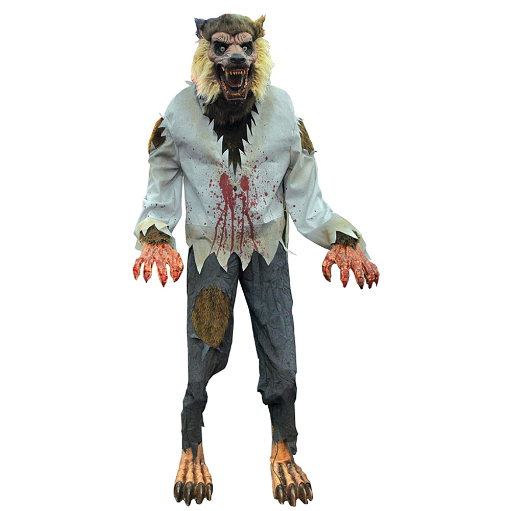 Www Halloween Decorating Ideas: Life-Sized Lurching Cursed Werewolf Animated Prop