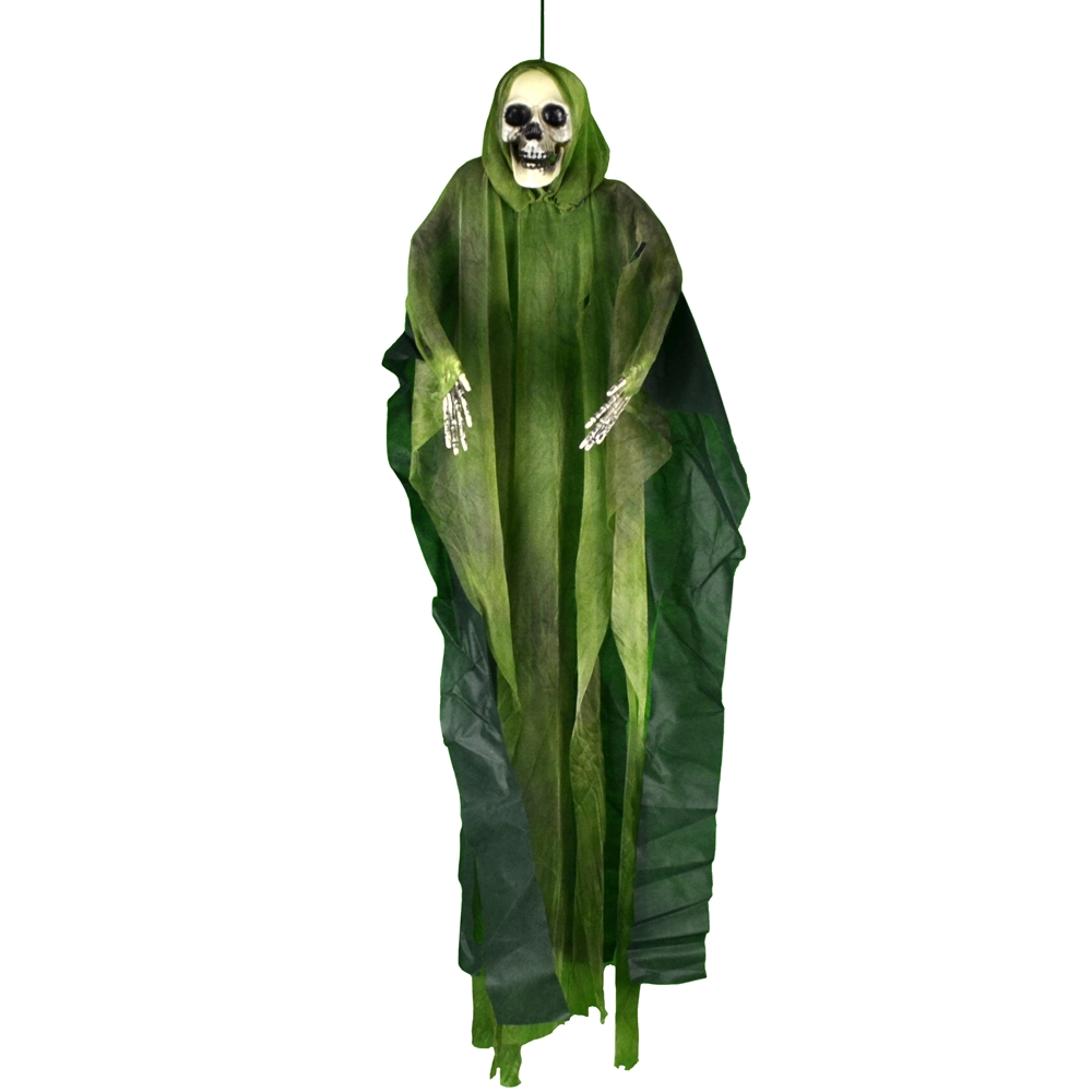 Hooded Hanging Skeleton 35in (More Colors)