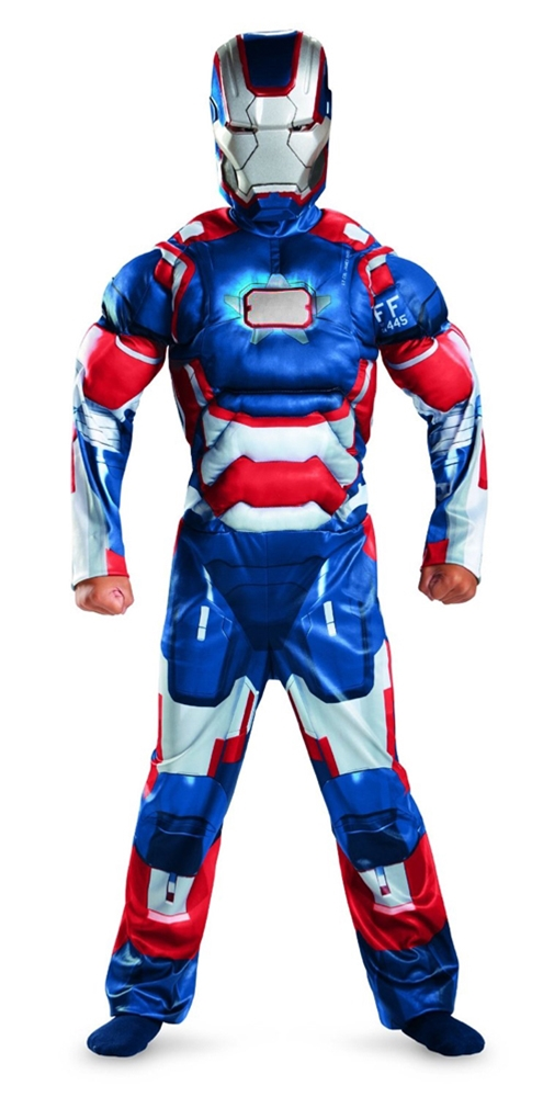 Marvels Iron Man Patriot Classic Muscle Child Costume