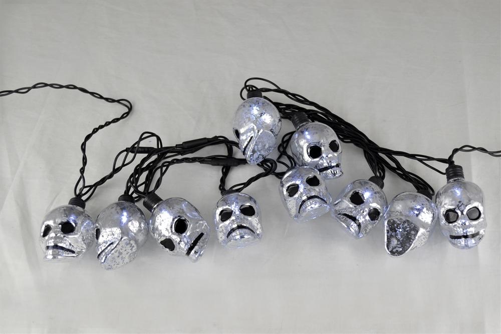 LED Skull String Lights