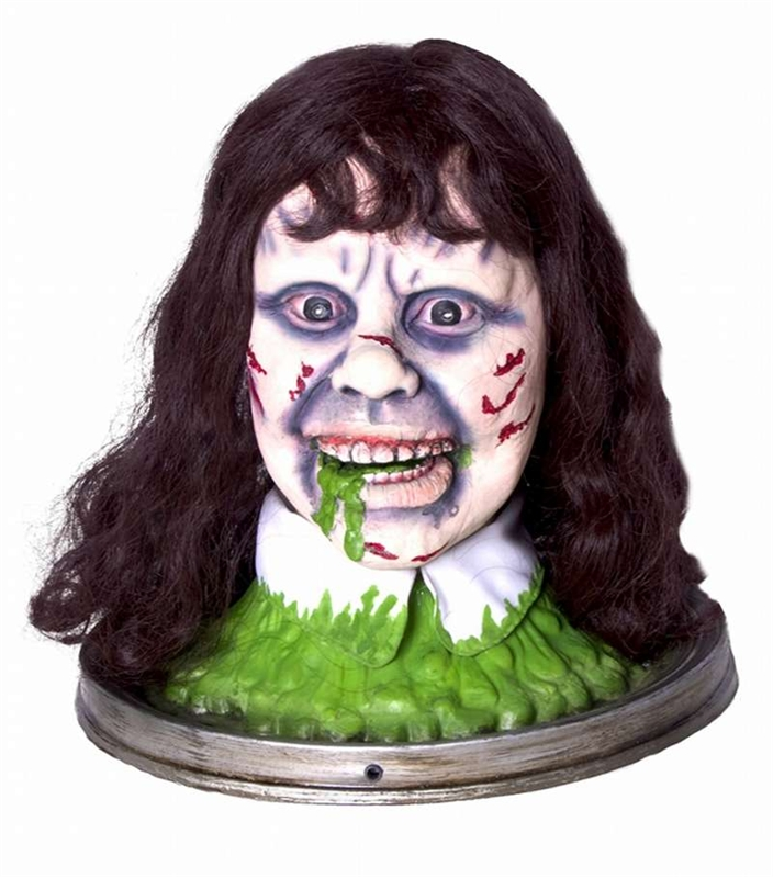 Exorcist Regan Animated Head on a Platter Prop
