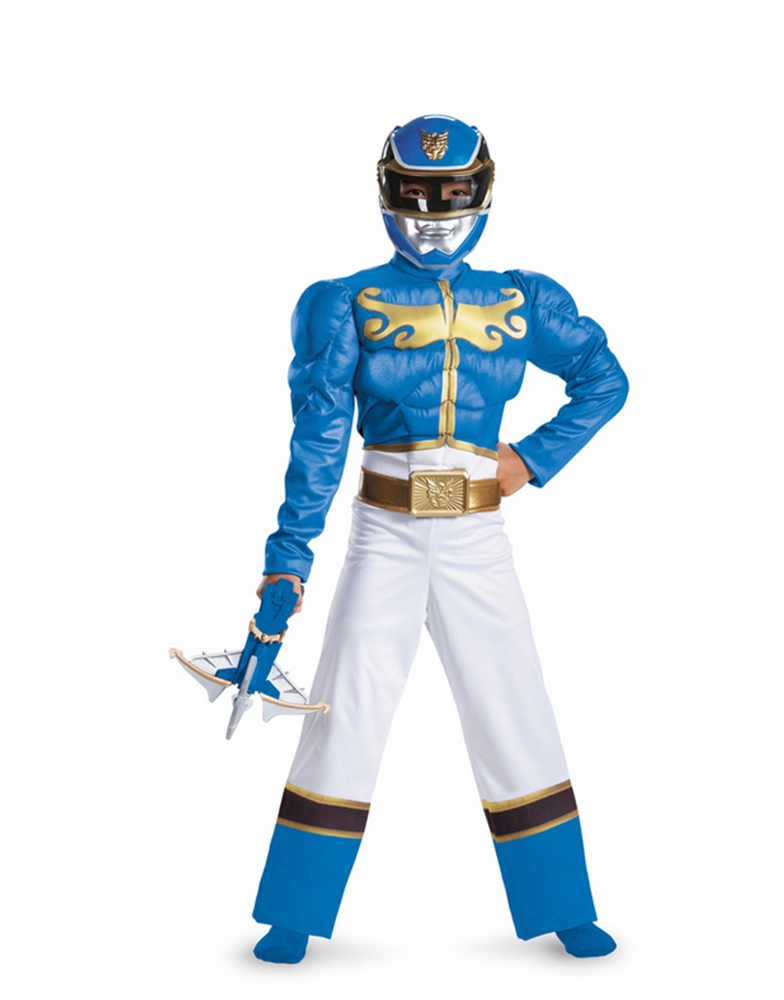 Power Rangers Megaforce Blue Ranger Muscle Boy Costume