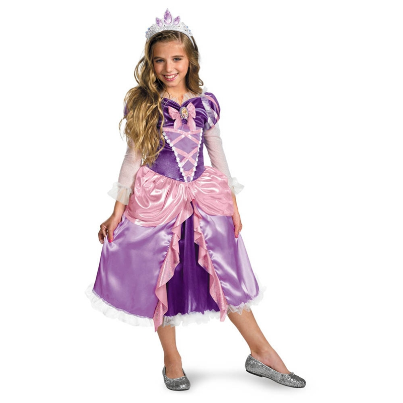 Disney Tangled Princess Rapunzel Shimmer Deluxe Child Costume