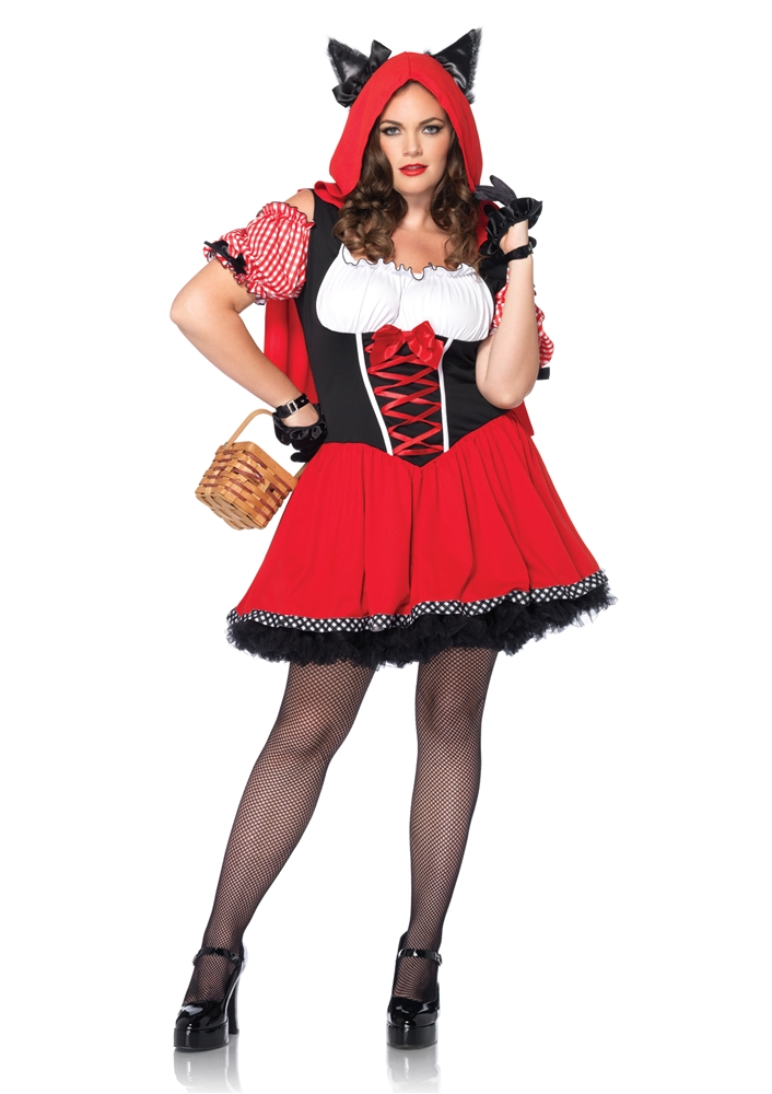 Red Riding Wolf Plus Size Adult Womens Costume