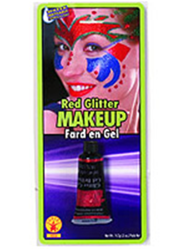 Red Glitter Gel Makeup