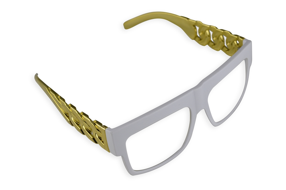 Retro Sunglasses with Gold Link Arms