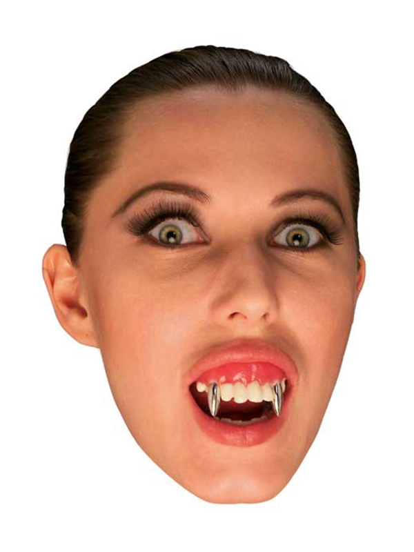 Silver Vampire Teeth