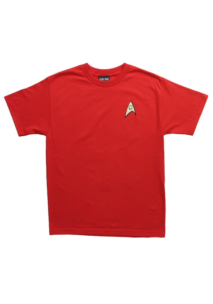 Star Trek Engineer Red Mens Shirt