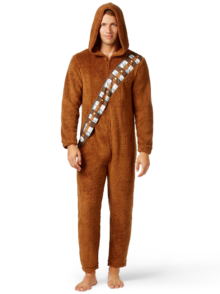 Star Wars Chewbacca Adult Mens Onesie with Hood