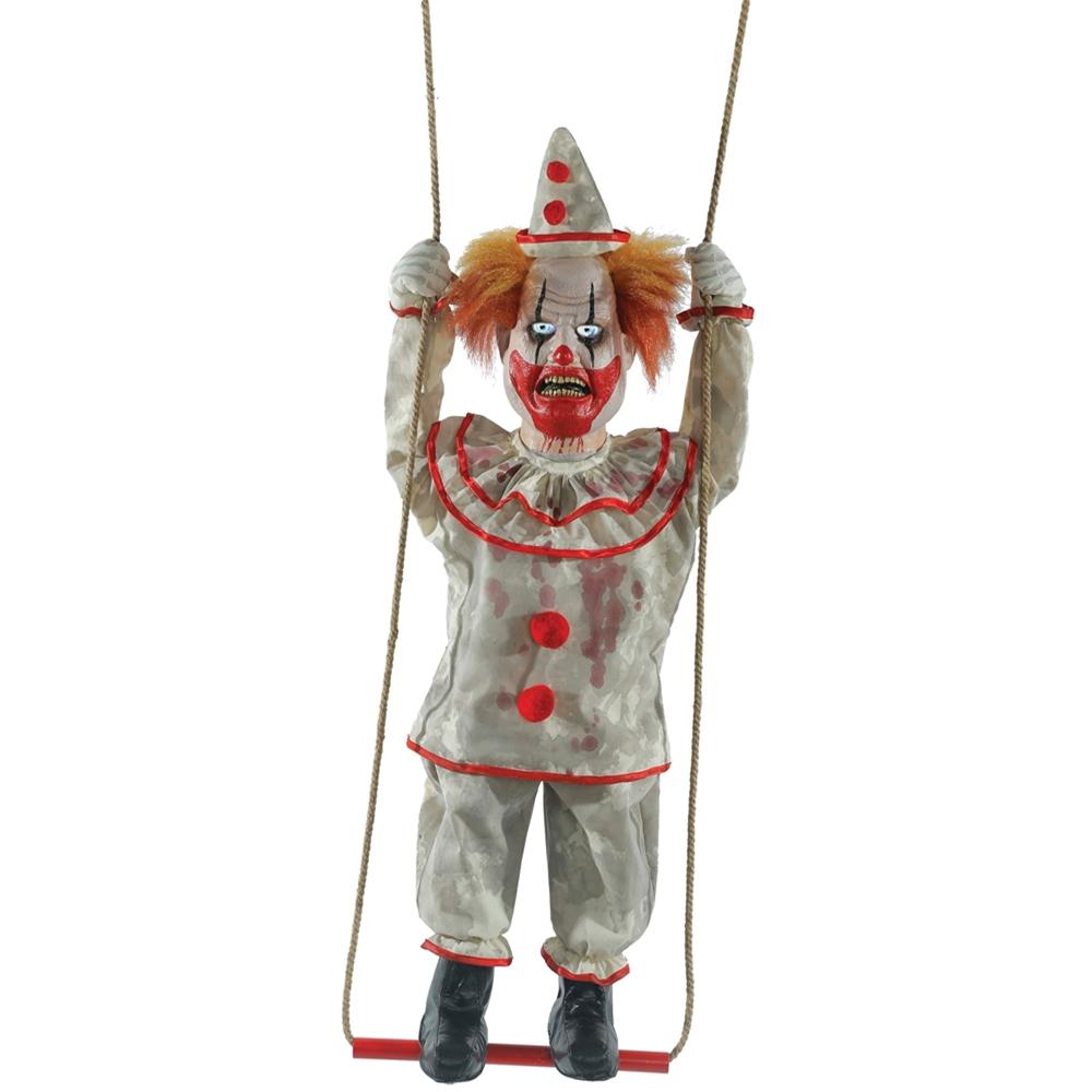 Www Halloween Decorating Ideas: Swinging Suicidal Clown Animated Prop