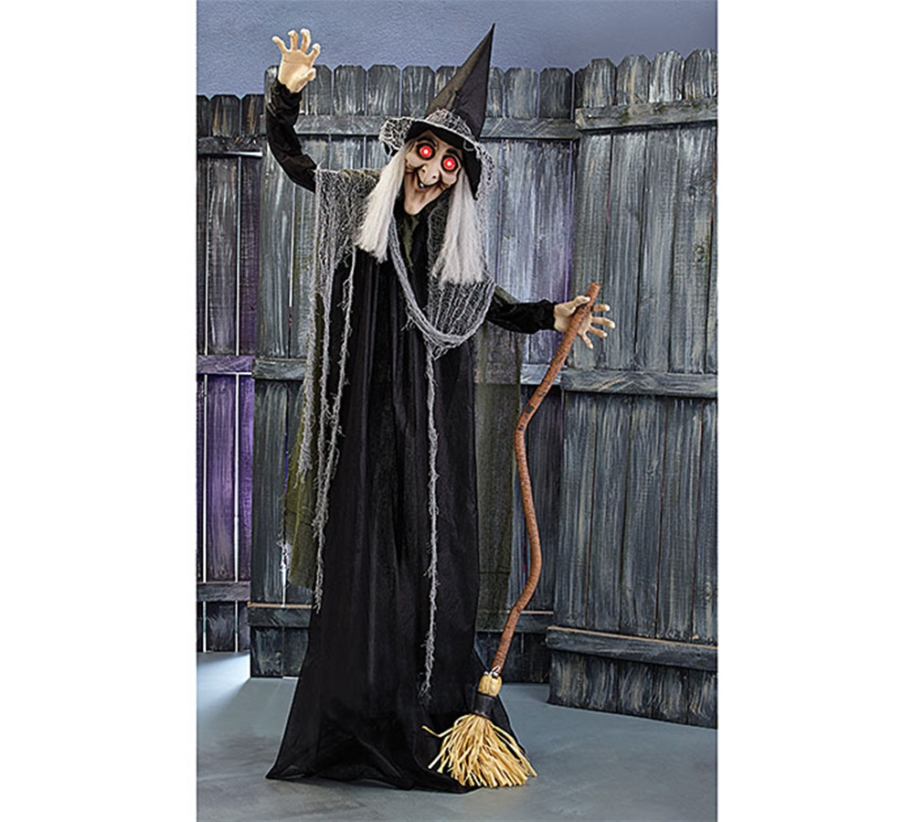 [Life-Sized Maggy Spooky-Eyed Witch Animated Prop] (Animated Witch)