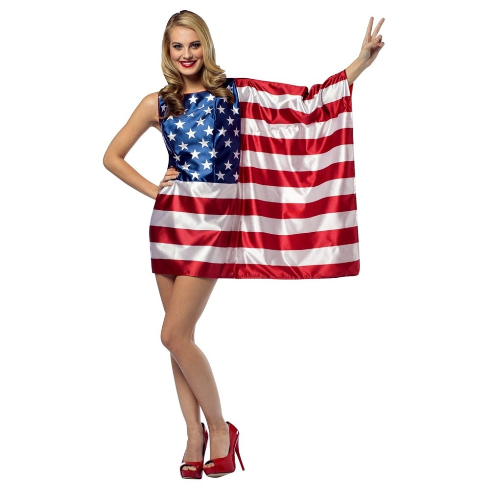 USA Flag Dress Adult Womens Costume