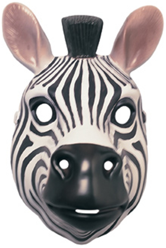 Zebra Plastic Mask by Rubies
