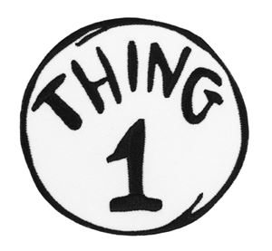 Canny image pertaining to thing 1 and thing 2 logo printable