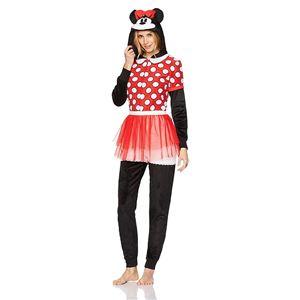 b83c683933d5 Minnie Mouse Dress Adult Womens Onesie - 397565