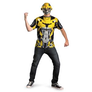 Transformers Bumblebee T-Shirt with Mask Plus Size Adult Mens Costume  d16bbb8f0