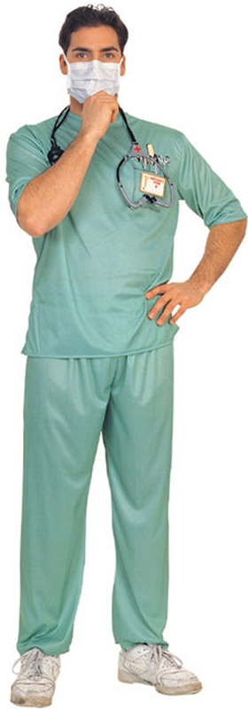 Emergency Room Male Costume - Emergency Room Male Surgeon Adult Mens Costume